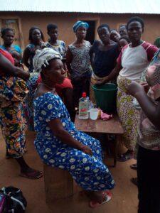 Projekt výroby mýdla ve vesnici Aklakou